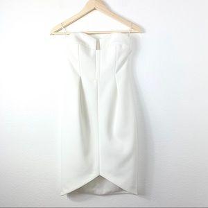 Keepsake The Label Mini Strapless Dress White XS